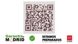Sello garantía Comunidad de Madrid QR